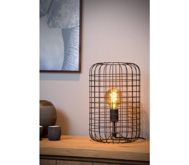 ESMEE Tafellamp 1xE27 60W Ø26cm  H40cm Zwart