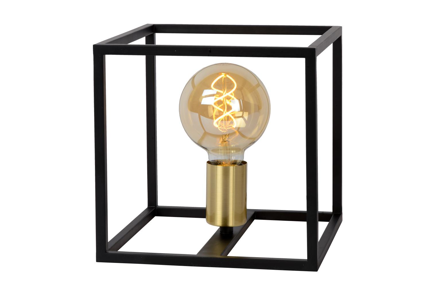 Lucide RUBEN Tafellamp 1x E27 40W Zwart - mat goud