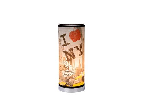 Lucide N.Y. BRONX Tafellamp E14 H36 D15cm Multicolor