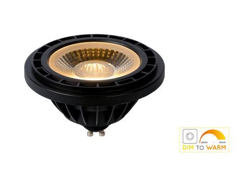 Lucide LED Lamp GU10 ES111 12W 820 LM Dim-to-warm Zwart
