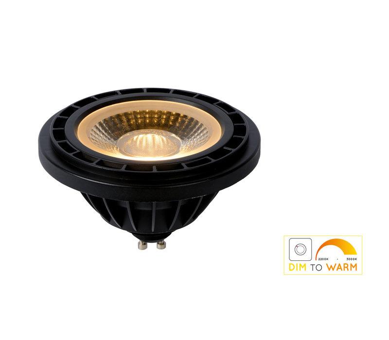 LED Lamp GU10 ES111 12W 820 LM Dim-to-warm Zwart