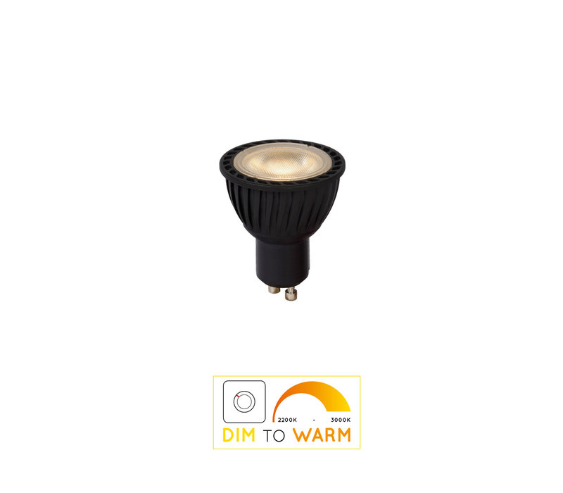 LED BULB Dimbaar GU10/5W DIM TO WARM Zwart