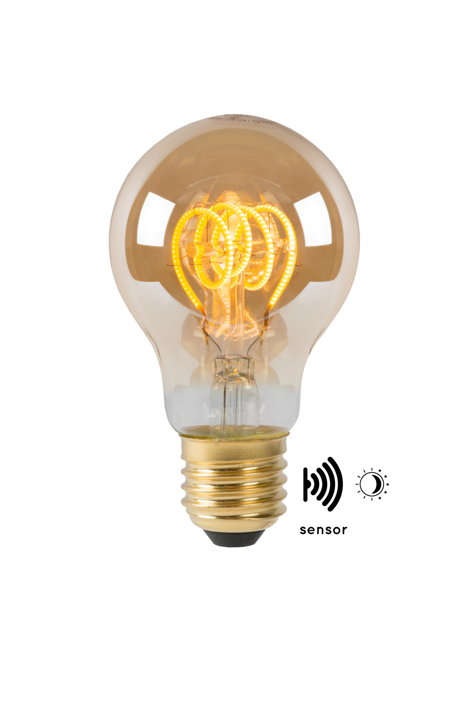 Lucide LED BULB TWILIGHT SENSOR A60E27/4W AMBER