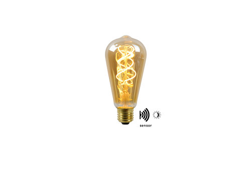 LED BULB TWILIGHT SENSOR ST64 E27/4W AMBER