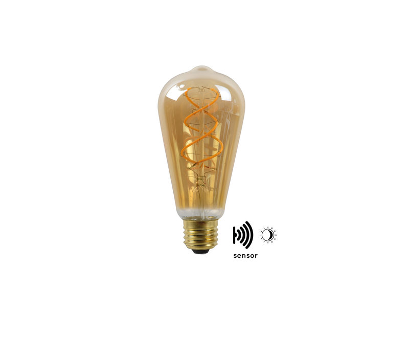 LED BULB TWILIGHT SENSOR ST64 E27/4W AMBER