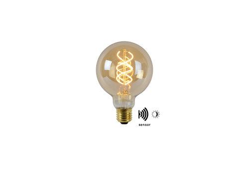 Lucide LED BULB TWILIGHT SENSOR G95 E27/4W AMBER