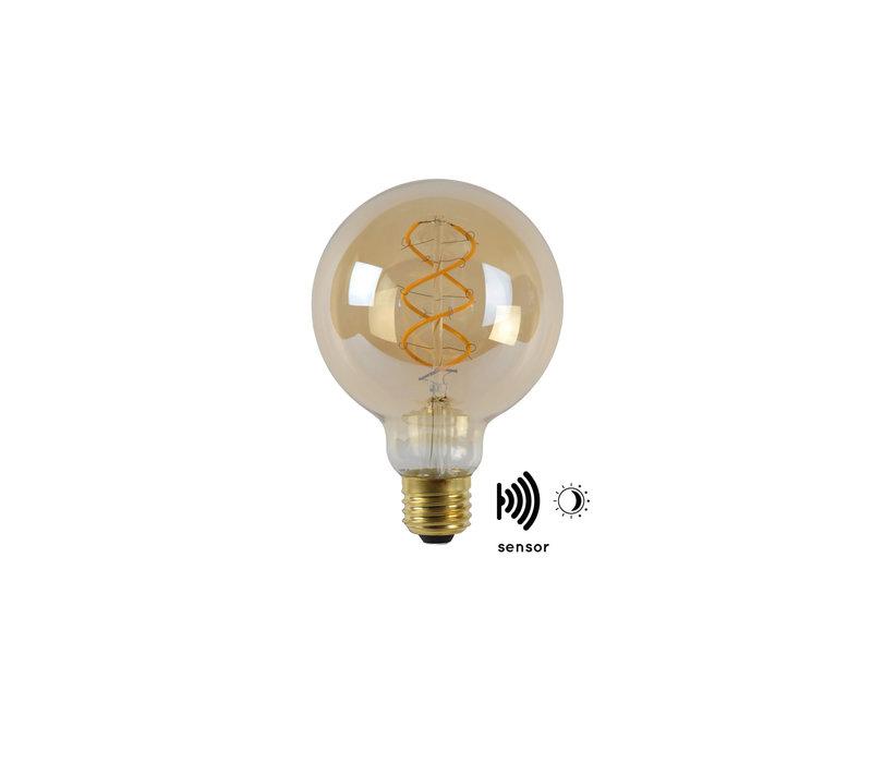 LED BULB TWILIGHT SENSOR G95 E27/4W AMBER
