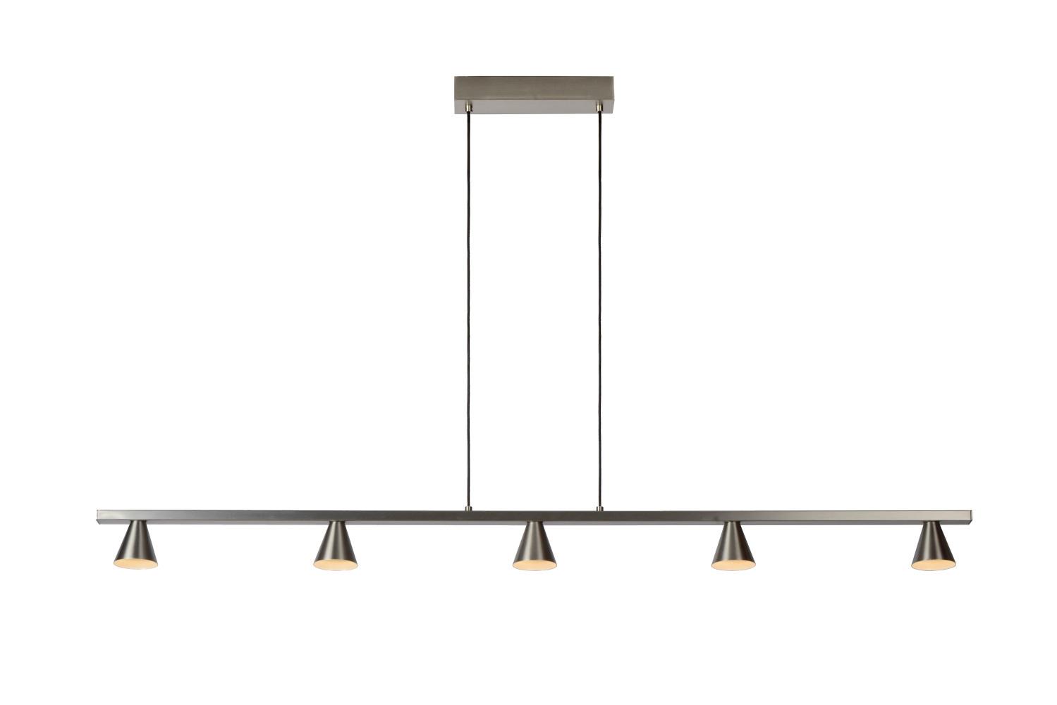 Lucide DELANO Hanglamp-Mat ch.-LED Dimb.-5W-3000K-Alumin.