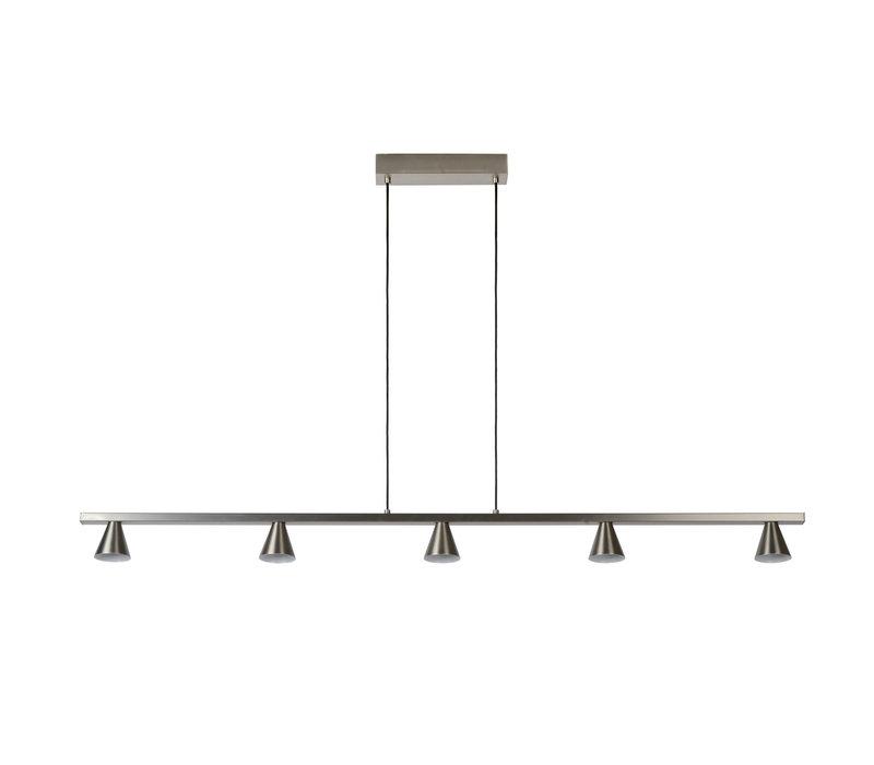 DELANO Hanglamp Led 5x5W Mat Chroom