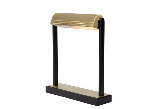 Lucide LAUT Bureaulamp E27/40W Zwart / Mat Goud