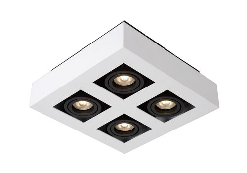 Lucide XIRAX Plafondspot-Wit-LED DTW-4xGU10-5W