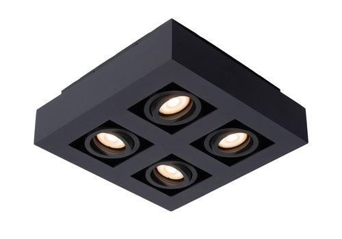 Lucide XIRAX Plafondlicht 4xGU10/5W LED DTW Zwart