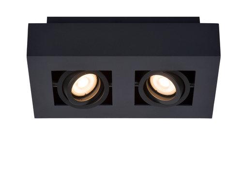 Lucide XIRAX Plafondlicht 2xGU10/5W DTW 3000K Zwart