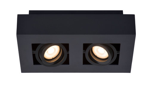 Lucide XIRAX Plafondspot-Zwart-LED DTW-2xGU10-5W