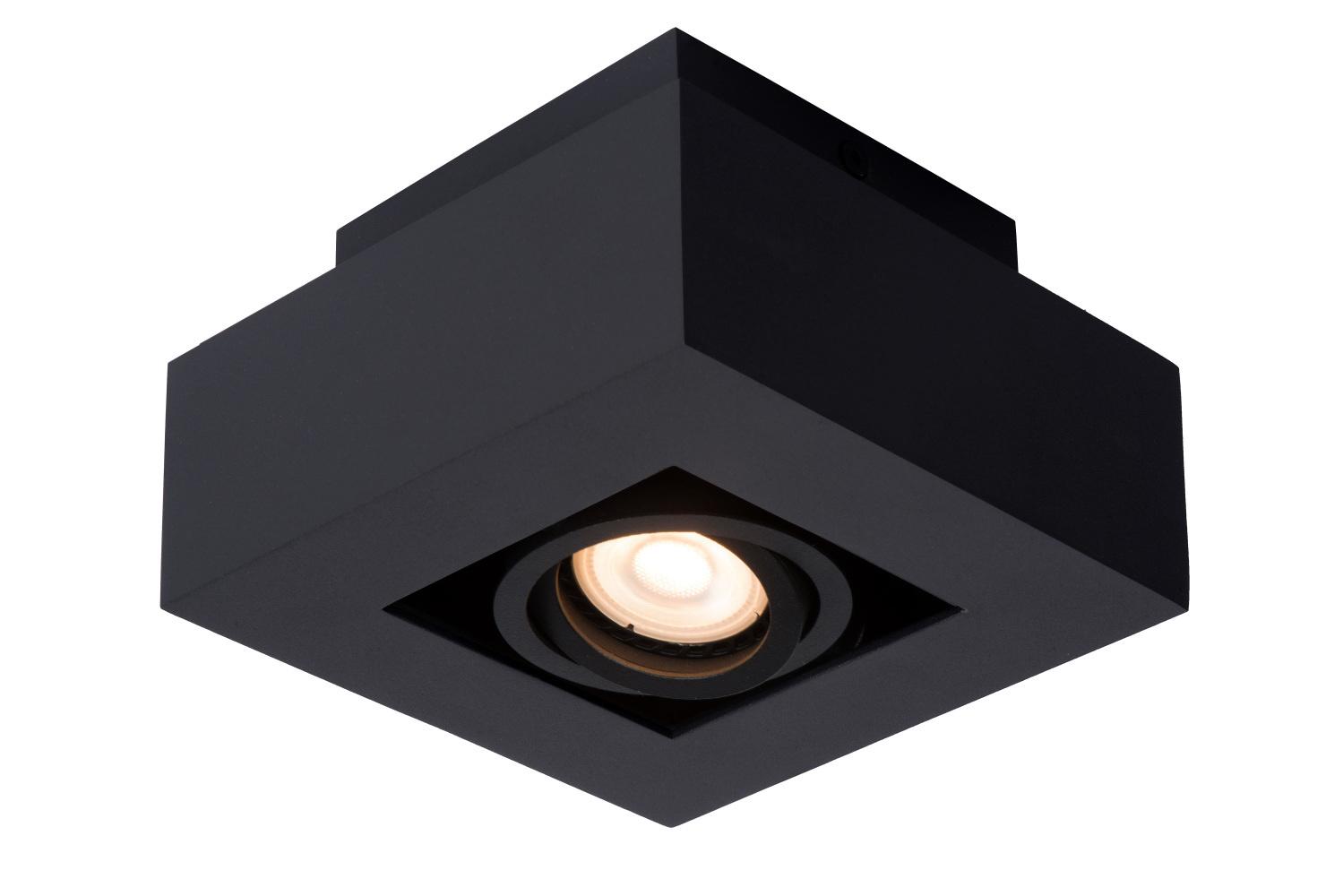 Lucide XIRAX Plafondspot-Zwart-LED DTW-1xGU10-5W