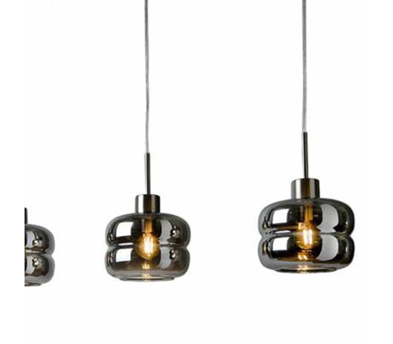 Hanglamp Havanna 5 lichts rookglas