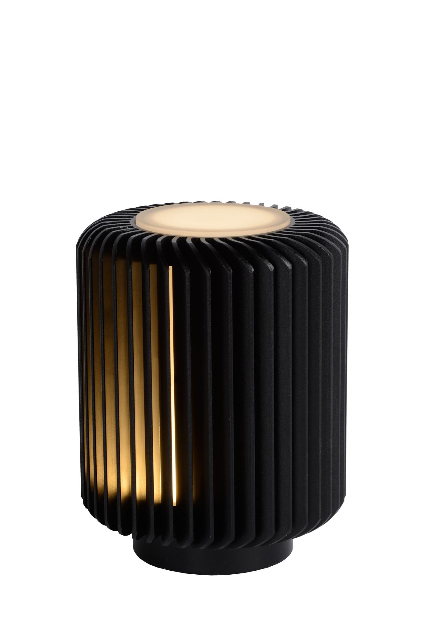 Lucide TURBIN Tafellamp LED 5W H13.7 10.6 Zwart