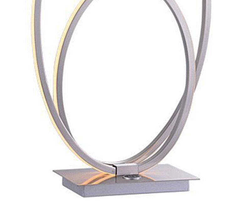Tafellamp Ophelia mat chroom ovaal
