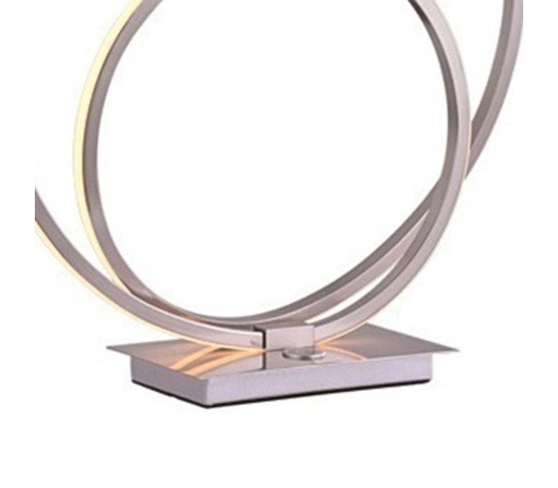 Tafellamp Ophelia mat chroom rond