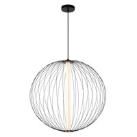 CARBONY Hanglamp Ø 60cm Int LED 10W/2700K Zwart