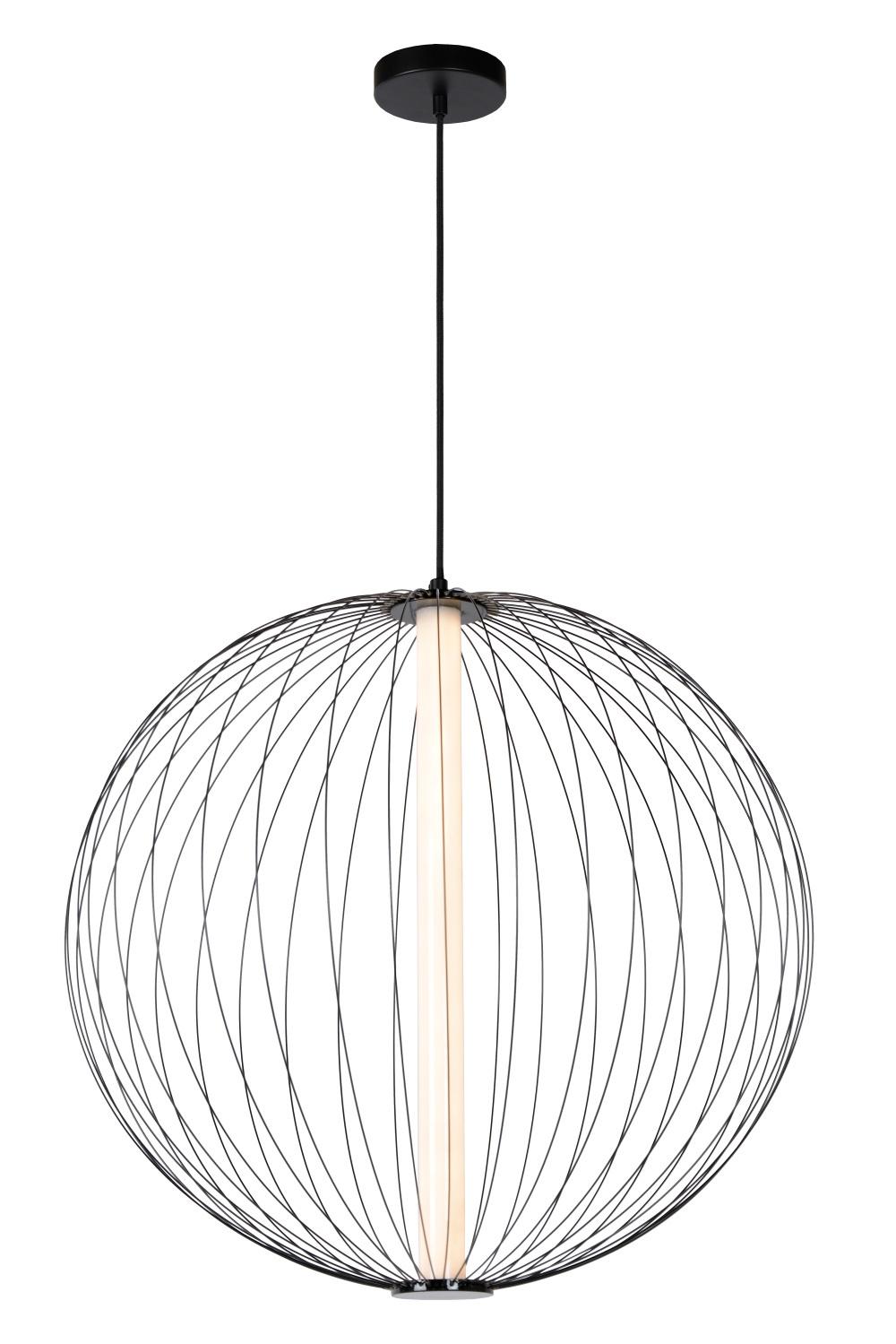 Lucide CARBONY Hanglamp-Zwart-Ø60-LED Dimb.-10W-2700K