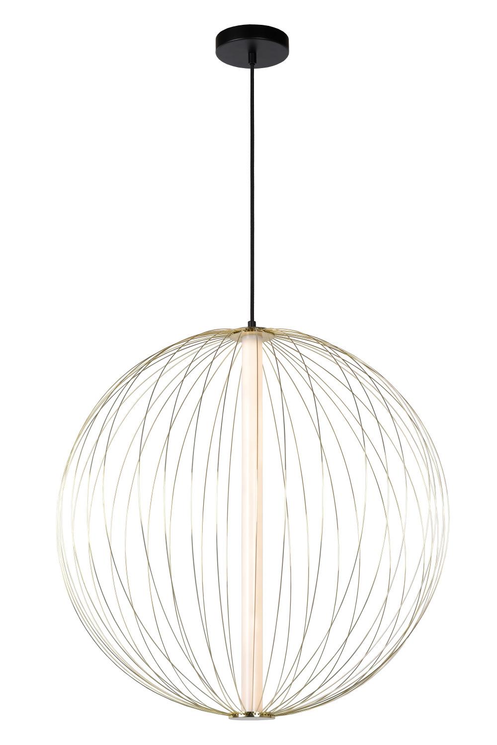 Lucide CARBONY Hanglamp-Mat Go.-Ø60-LED Dimb.-10W-2700K