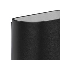 Wandlamp Oval zwart
