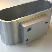 Wandlamp Oval mat chroom