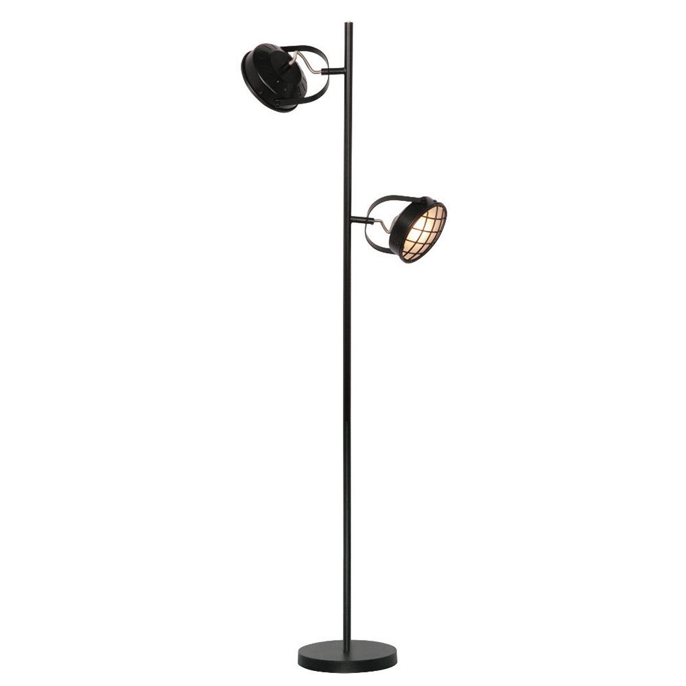 Freelight Vloerlamp Lazaro 2 lichts zwart