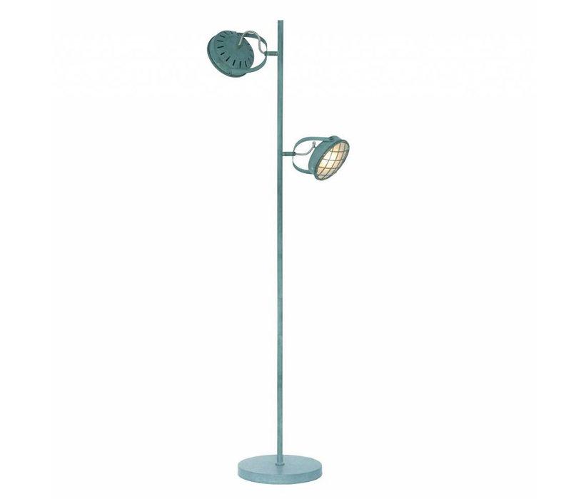 Vloerlamp Lazaro 2 lichts grijs