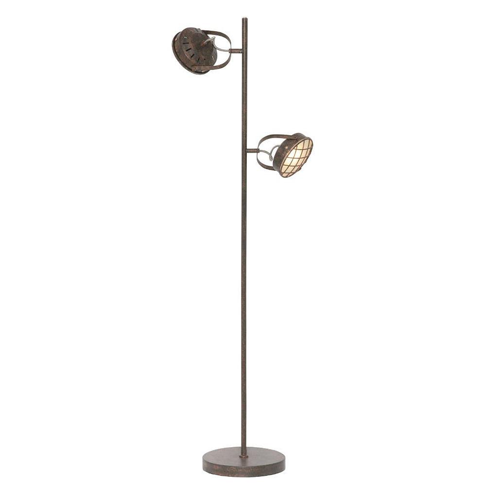 Freelight Vloerlamp Lazaro 2 lichts roest bruin