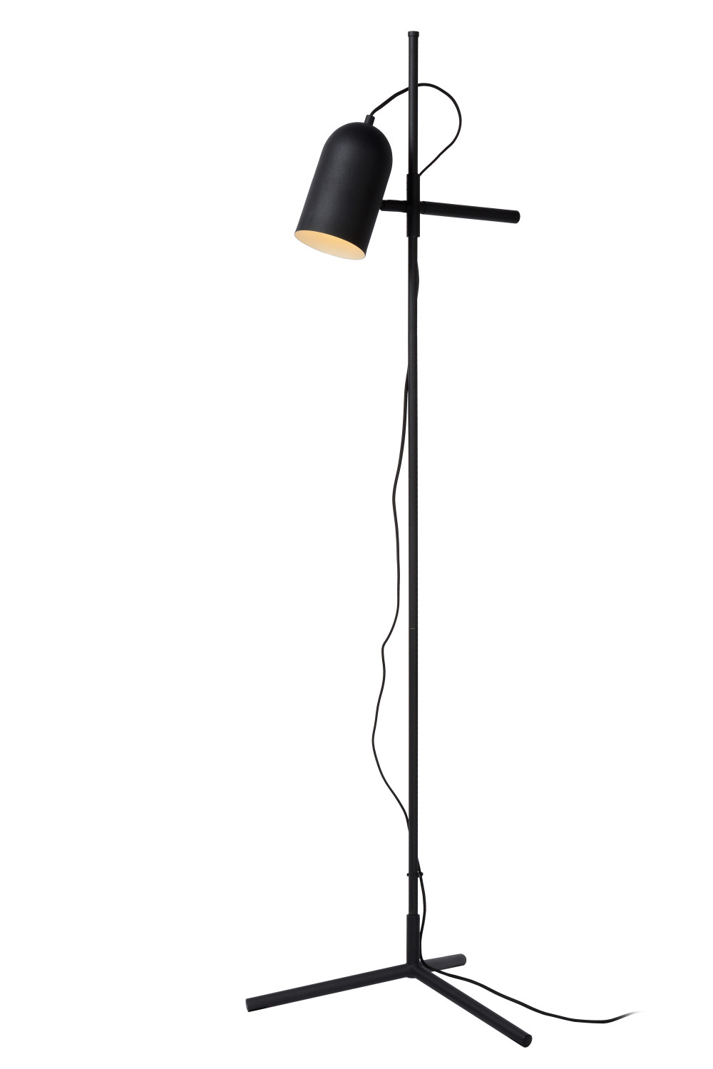 Lucide EDEK Vloerlamp-Zwart-1xE27-40W-Staal