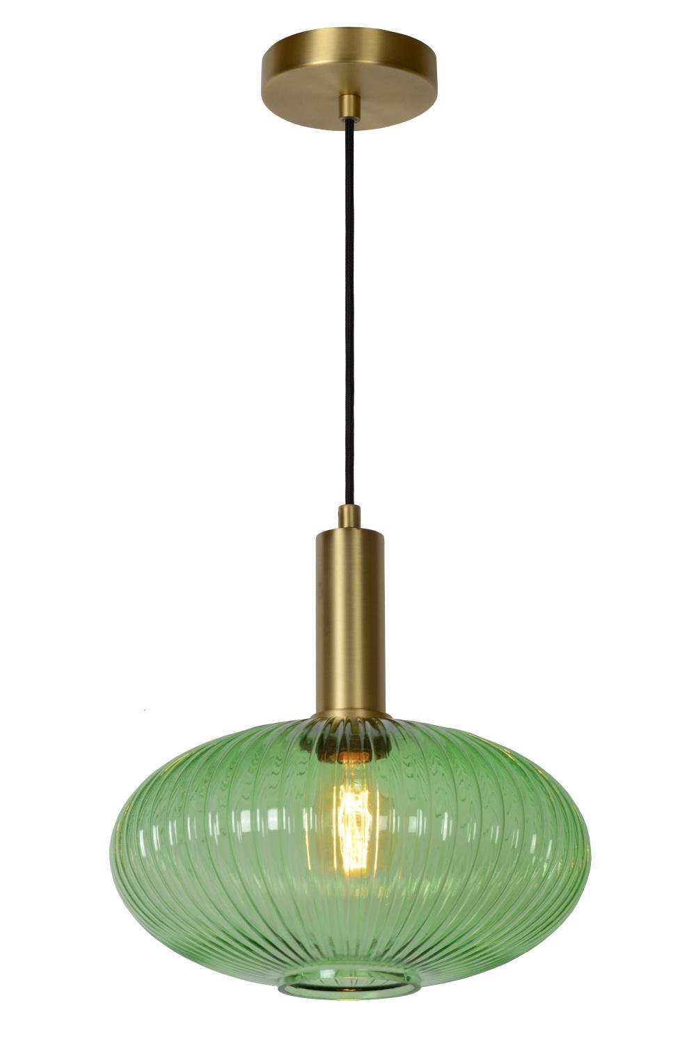 Lucide MALOTO Hanglamp-Groen-Ø30-1xE27-40W-Glas
