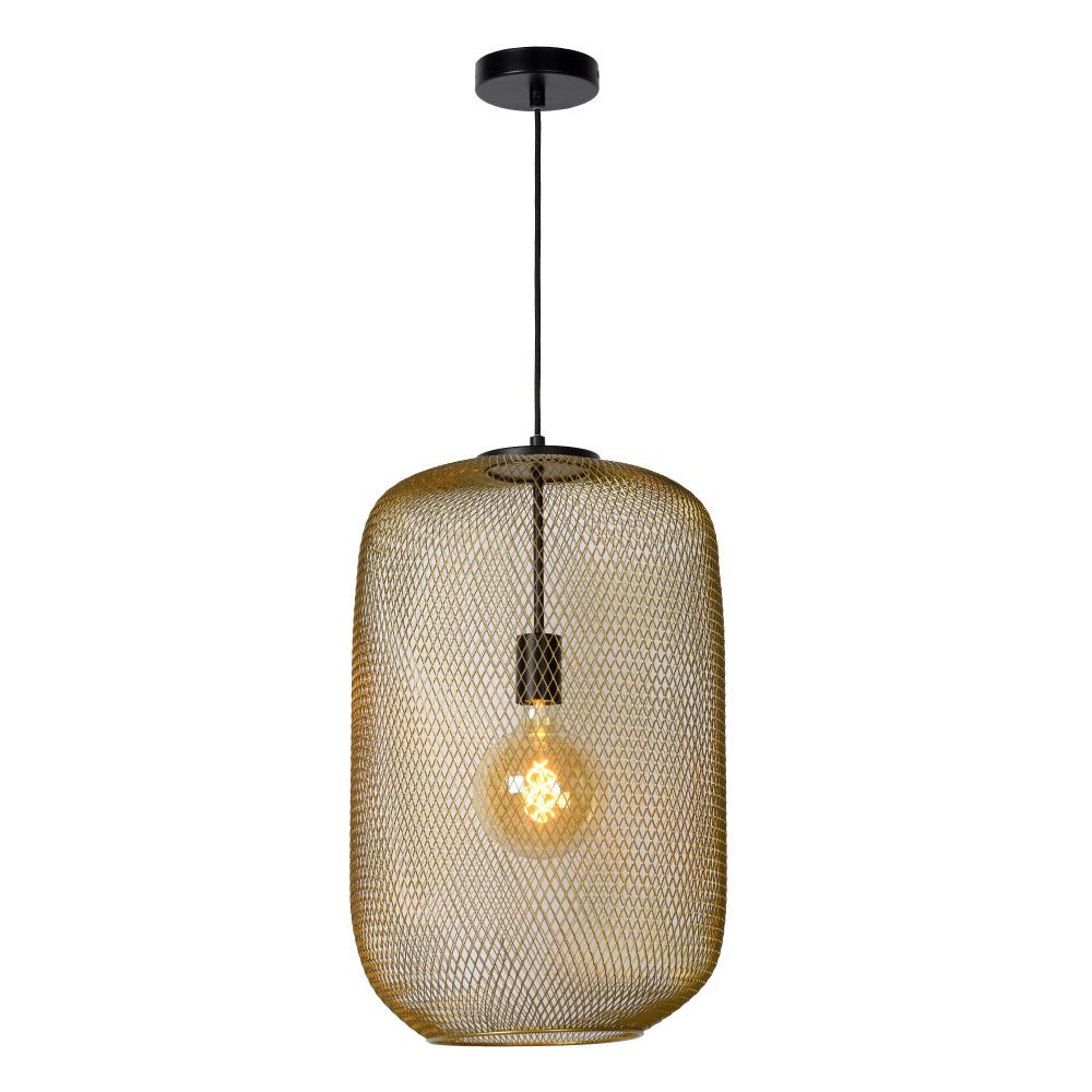 Lucide MESH Hanglamp-Mat Go.-Ø35-1xE27-40W-Staal