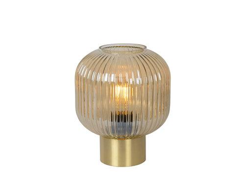 Lucide MALOTO Tafellamp Ø20cm E27/40W Amber/Messing