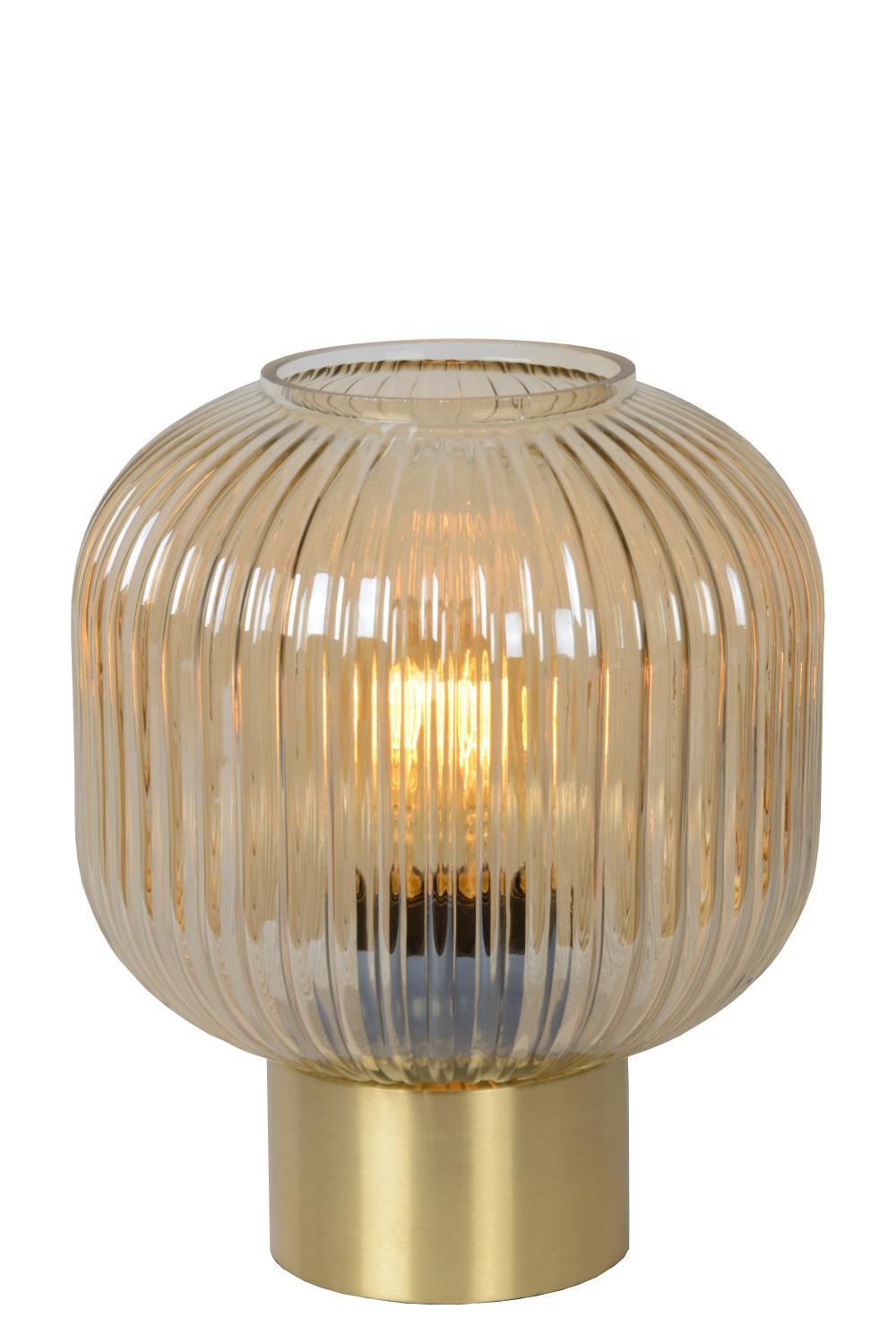 Lucide MALOTO Tafellamp-Amber-Ø20-1xE27-40W-Glas