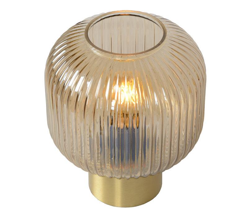 MALOTO Tafellamp Ø20cm E27/40W Amber/Messing
