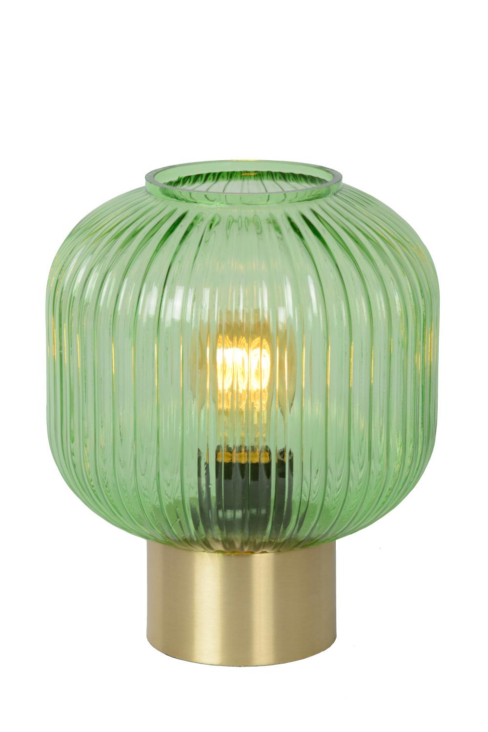 Lucide MALOTO Tafellamp-Groen-Ø20-1xE27-40W-Glas