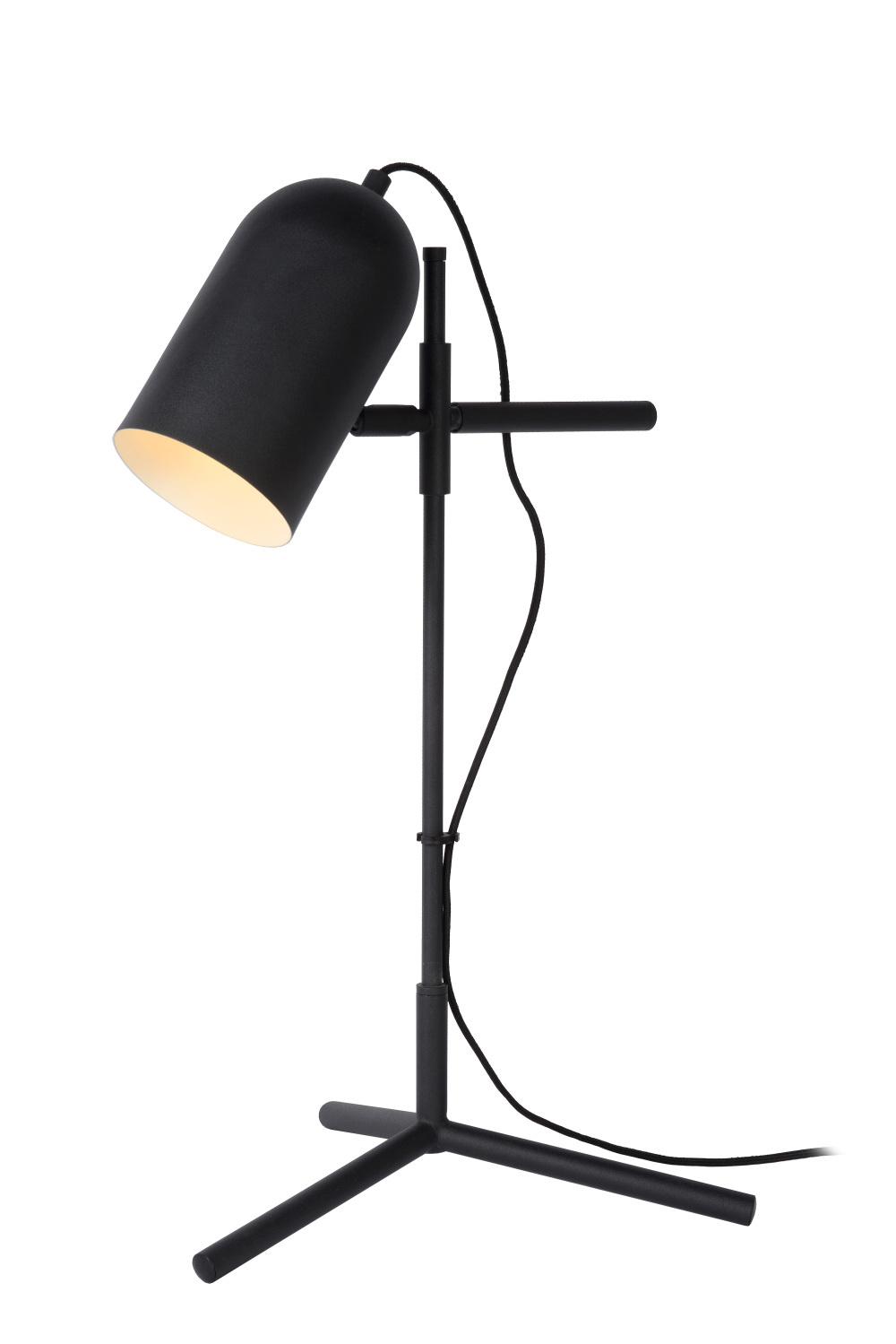 Lucide EDEK Tafellamp-Zwart-1xE27-40W-Staal
