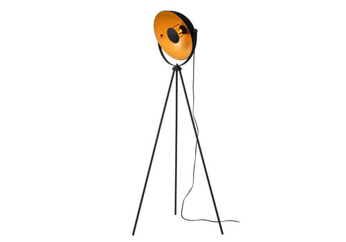 Lucide ALVARO Vloerlamp E27/40W  Zwart/mat goud