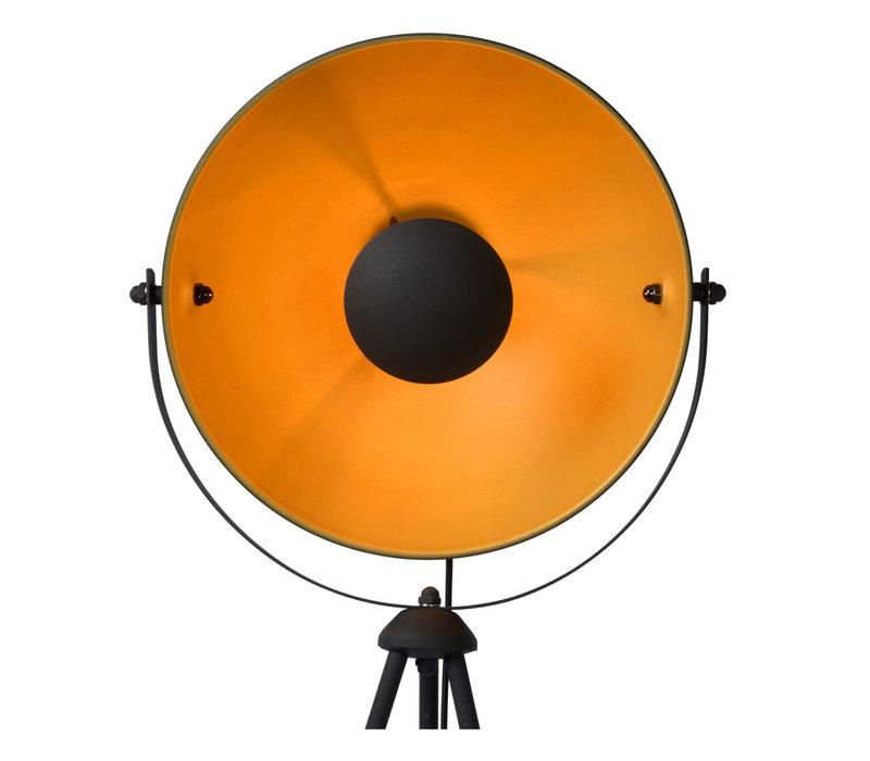 ALVARO Vloerlamp E27/40W  Zwart/mat goud