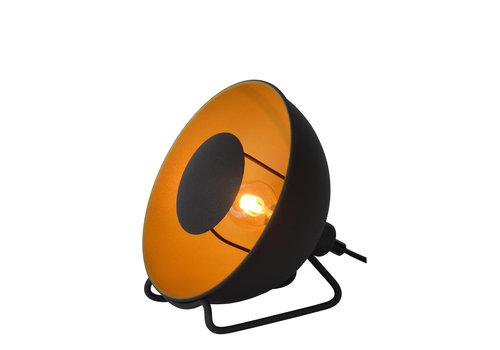 Lucide ALVARO Tafellamp-Zwart-Ø20-1xE14-25W-Staal