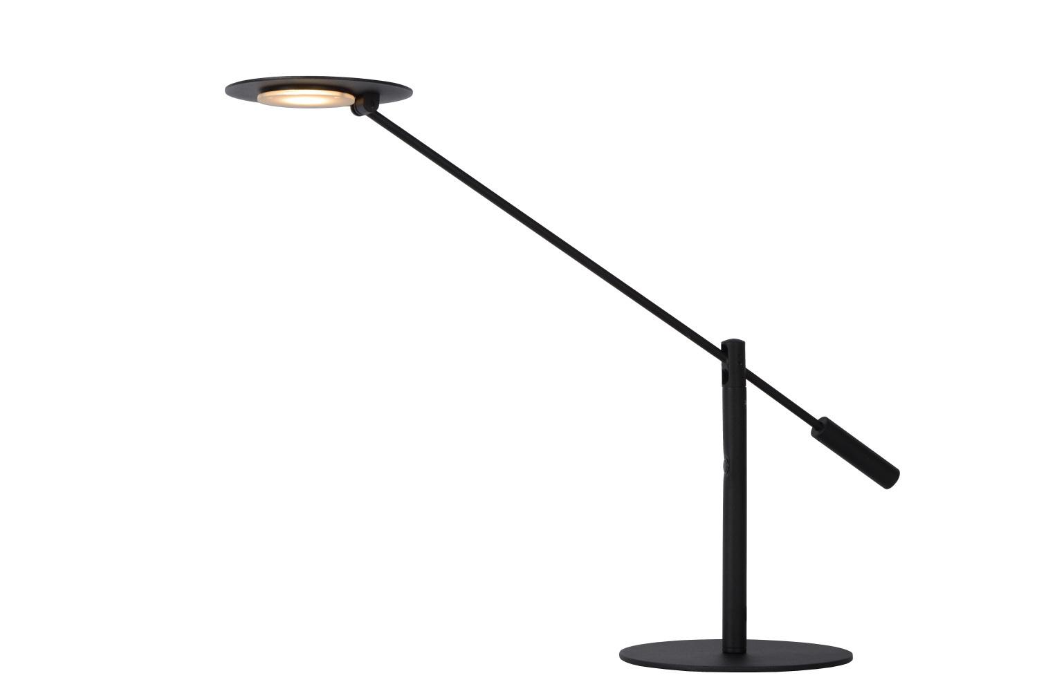 Lucide ANSELMO Bureaulamp-Zwart-Ø25-LED Dimb.-9W-3000K