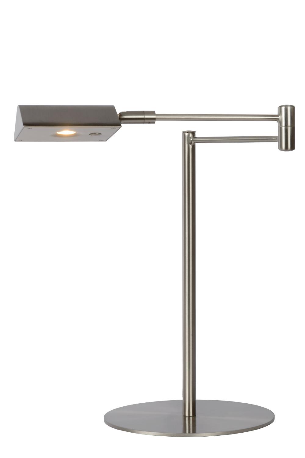 Lucide NUVOLA Bureaulamp-Mat ch.-Ø20-LED Dimb.-9W-3000K