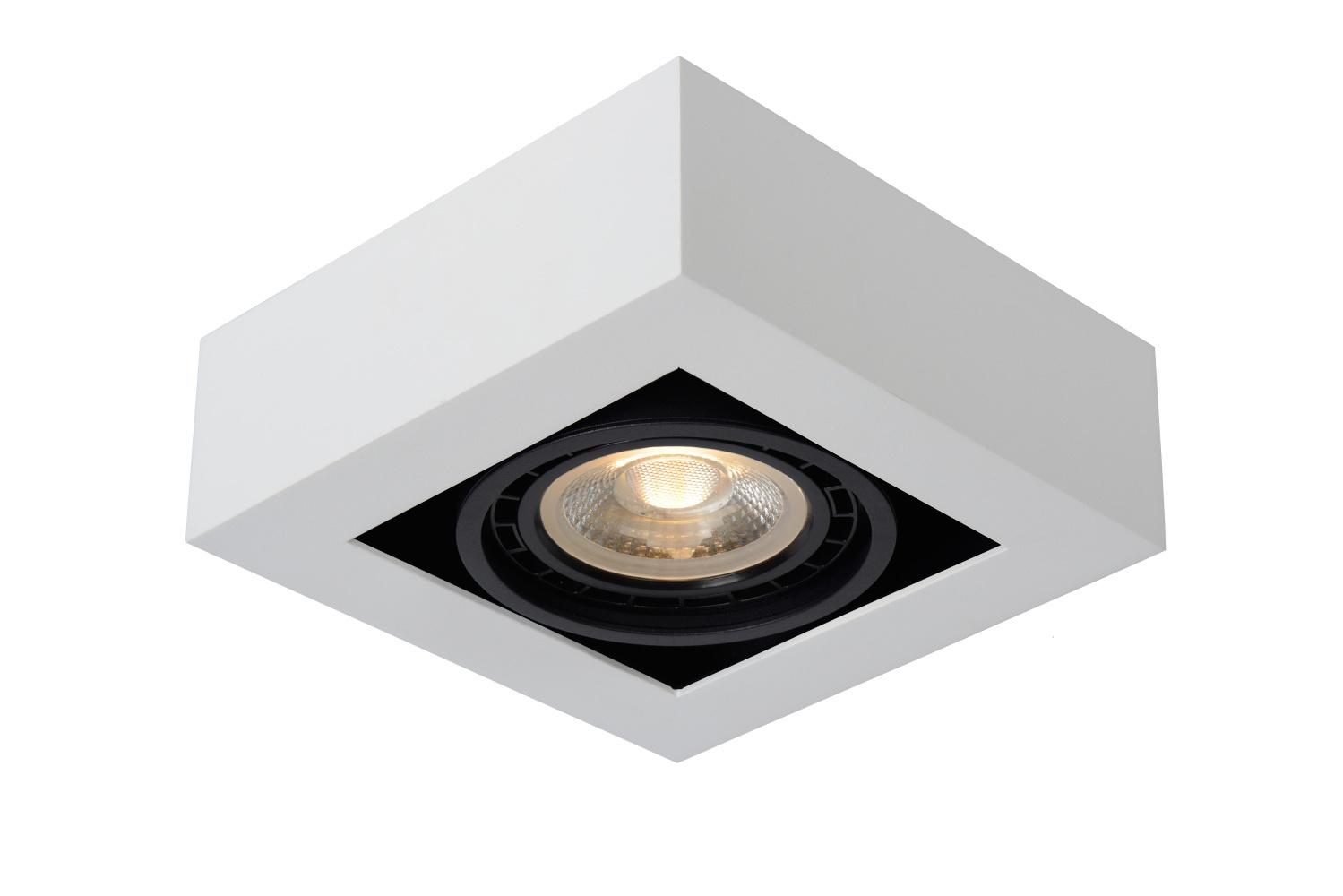 Lucide ZEFIX Plafondspot 1x Gu10/12W DTW Wit