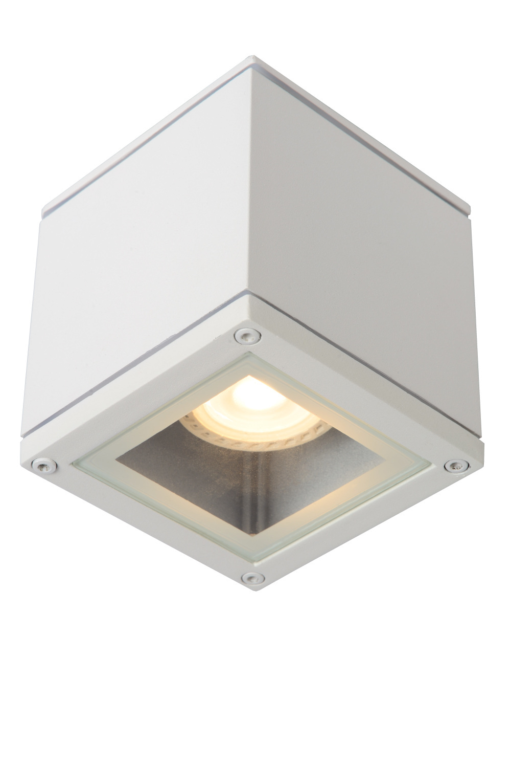 Lucide AVEN Plafondspot Badk.-Wit-1xGU10-50W-IP65-Alumin.