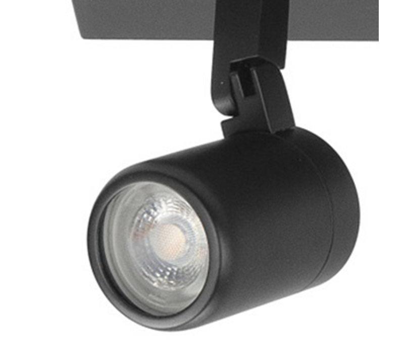 Spot Rain 3 lichts balk IP44 zwart