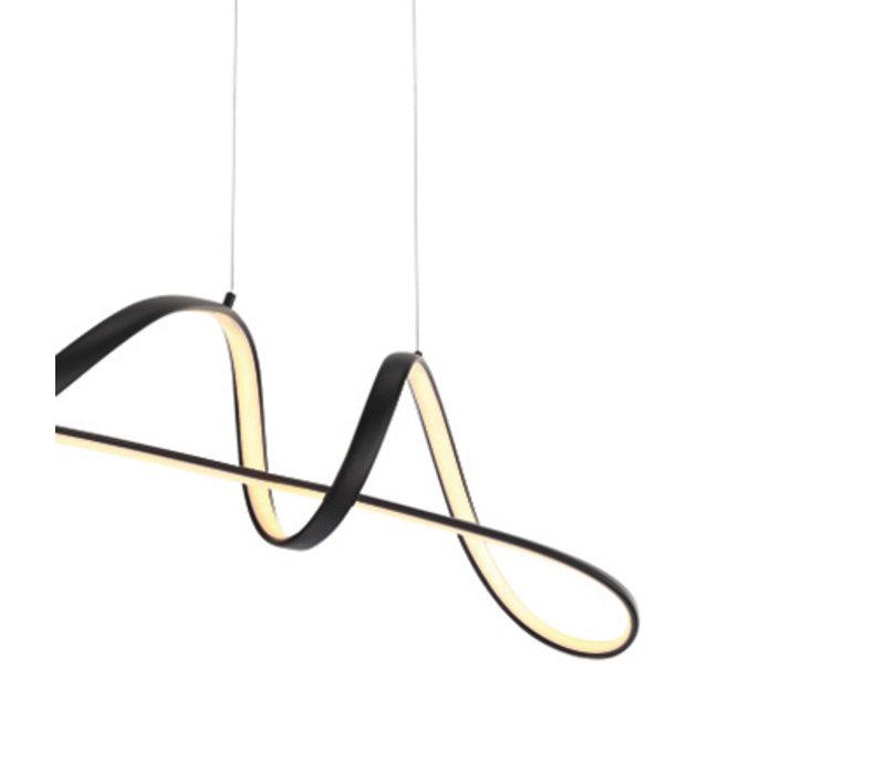 Hanglamp Naromi zwart met 3 stappen dimmer