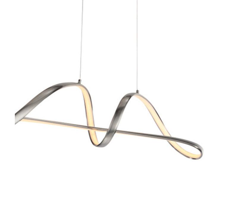 Hanglamp Naromi mat-chroom met 3 stappen dimmer