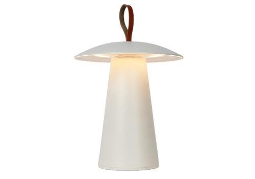 Lucide LA DONNA Tafellamp Buiten-Wit-Ø19,7-LED Dimb.-2W